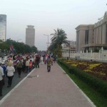 Hundrends of thousand people march to Freedom park accross Concil of Ministers where the sensitive place for government.