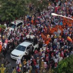 Hundrends of thousand people protesting for re-election in 2014.