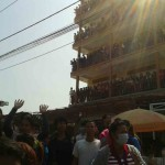 Hundreds of workers are on strike continue demanding #MW160KH along Veng Sreng street, Po Sen Chey district today.